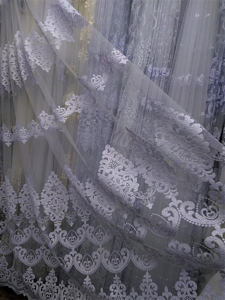 Тюль на сітці «Джолі» білого кольору